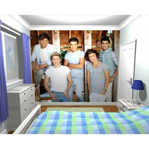 GIANT WALLPAPER WALL MURAL OFFICIAL 1D ONE DIRECTION BEDROOM THEMED DESIGN